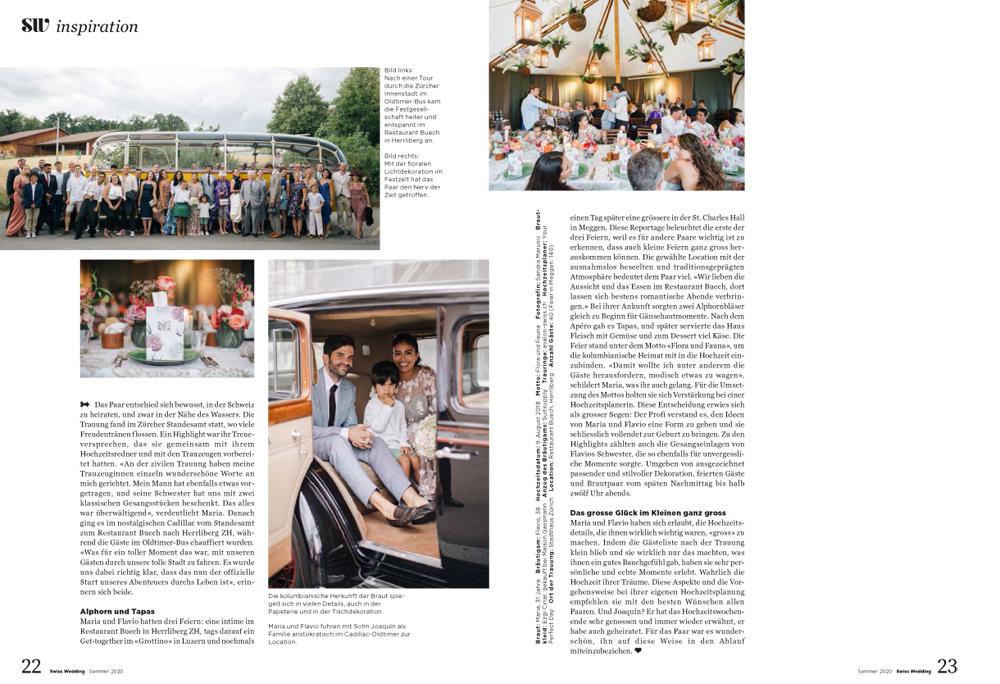 Swiss Wedding Hochzeitsmagazin