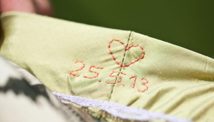 Hochzeitsdetail Hochzeitsmagazin Stickerei
