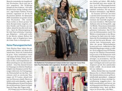 Evelyne Schärer lange Tafel Hochzeitskrise